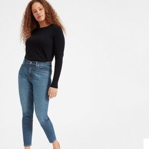 Everlane High Rise Skinny Jeans Ankle Light Wash